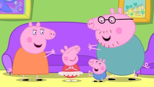 【动画简介】 《小猪佩奇》又名《粉红猪小妹》,英文名:Peppa Pig,德语名:Peppa Wutz,是一部英国学前电视动画片。这部动画片也有德语配音版哦,单词难度适中,适合德语水平在A1~A2的同学,一起来看动画学德语吧! 声明:本文系沪江德语整理,如有不妥之处,欢迎指正!