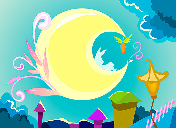 英语美文 初一年级中秋节作文400字 幸福的中秋夜