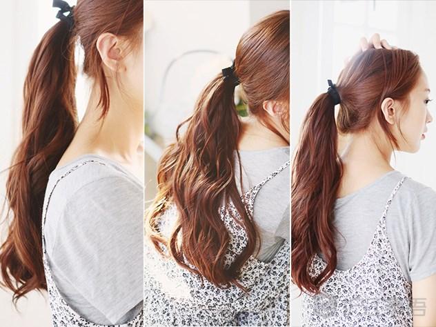 有刘海的长卷发 棕色是最近韩国妹子很流行的一种颜色,因为又可爱又自