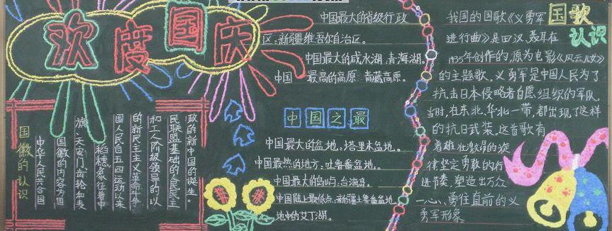 2016年国庆节黑板报:我的中国梦!