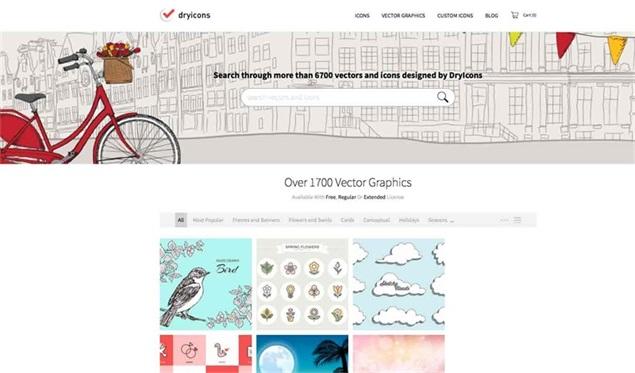 它拥有超过1000 个免费的设计图像和字体的目录.