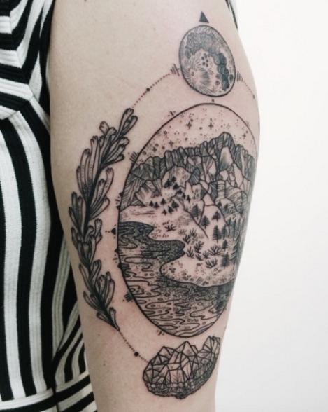 法语入门_法国妹纸最爱的月亮纹身:你喜欢哪个?_沪江