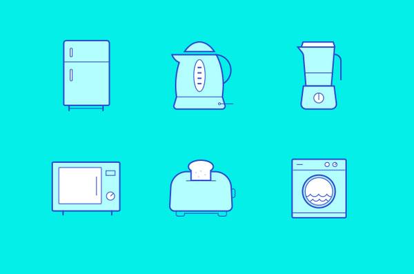 极简风推荐,三色极简图标设计案例_ui设计_沪江网.