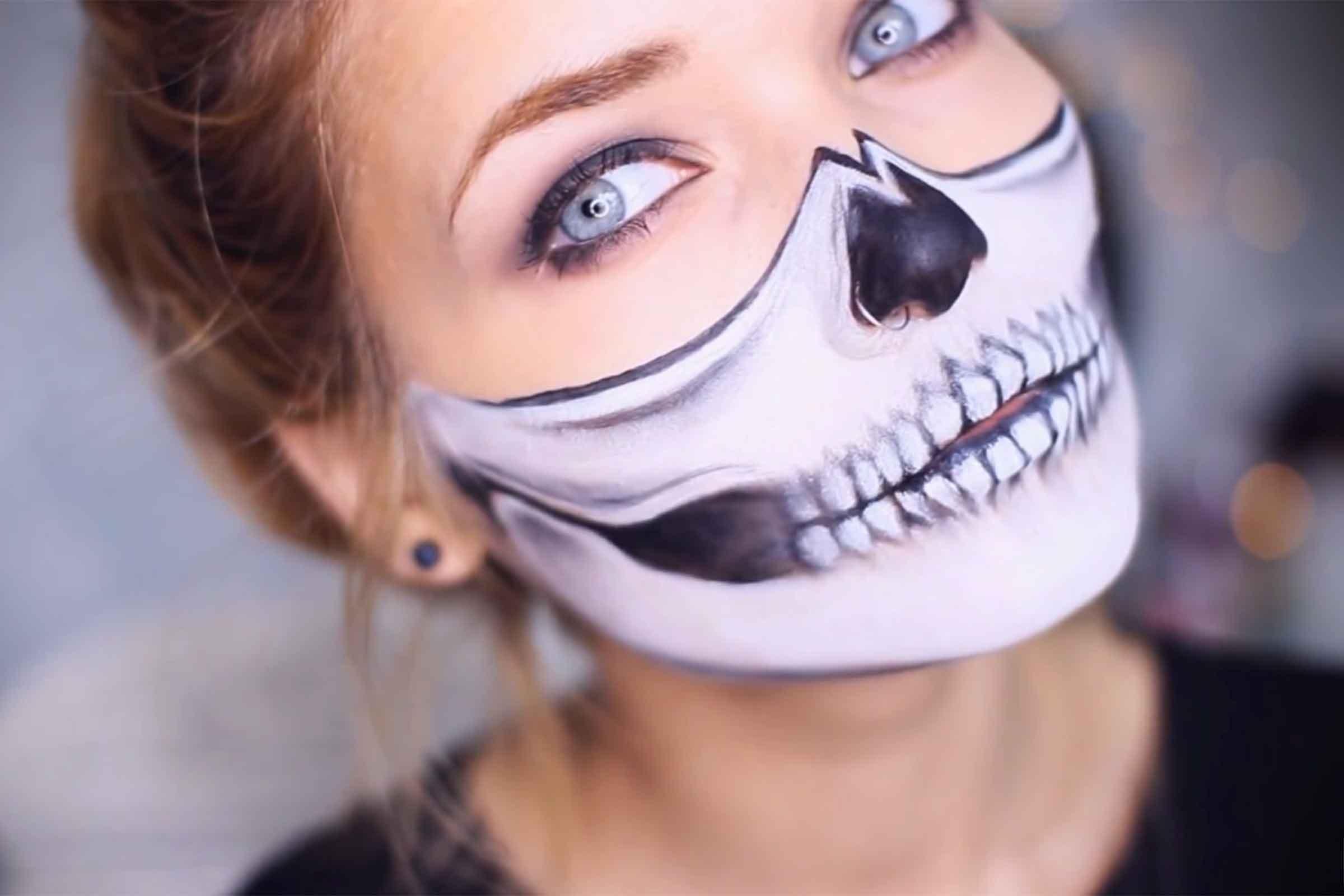 Lady Halloween Face Paint
