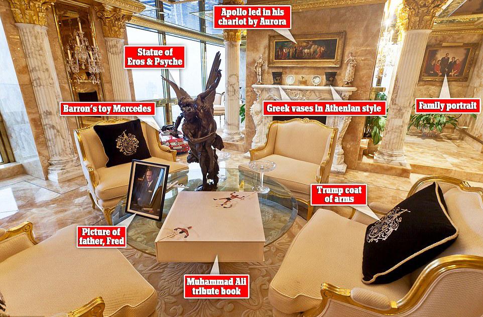 揭秘川普家的豪宅 白宫瞬间比下去了!(