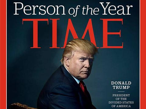 川普当选时代周刊2016年度人物:美国人民已疯