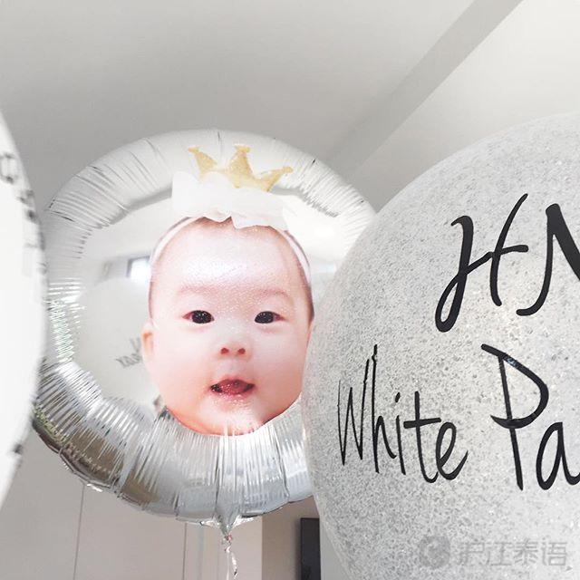 举办了一场主题为#宝宝白色party2017