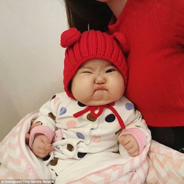 一个instagram账号用可爱的亚洲宝宝的照片吸粉5.5万人.
