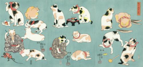 幕末天才画师歌川国芳笔下的可爱猫咪
