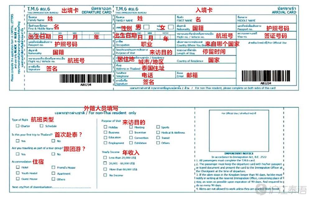 泰国新版出入境卡样本图片大全 Uc今日头条新闻网
