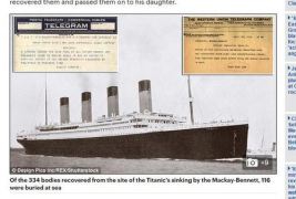 【泰坦尼克号救援电报:富者尸体带回 穷人丢大海】