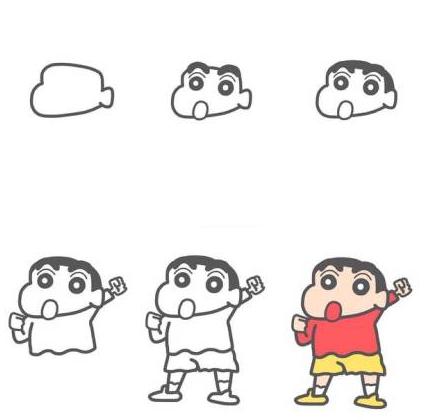 【迷之简笔画】蜡笔小新_【沪江网校】超级校园_学习