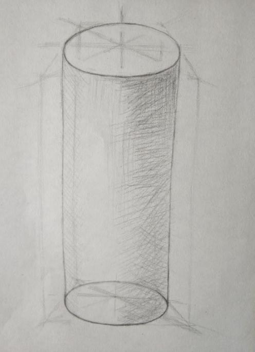 圆柱杯子素描图片步骤