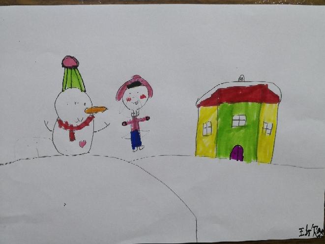 四年级画画幅冬天的画