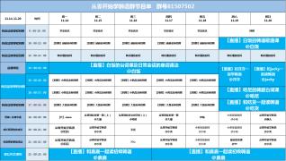 【11.14-11.20】 CC韩语各官方群课程表