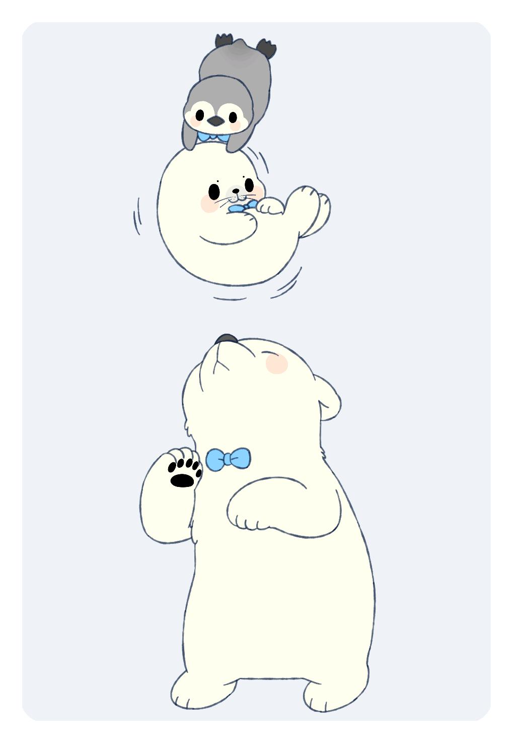 【2016年11-12月合作区】极地动物:白熊,海豹,企鹅