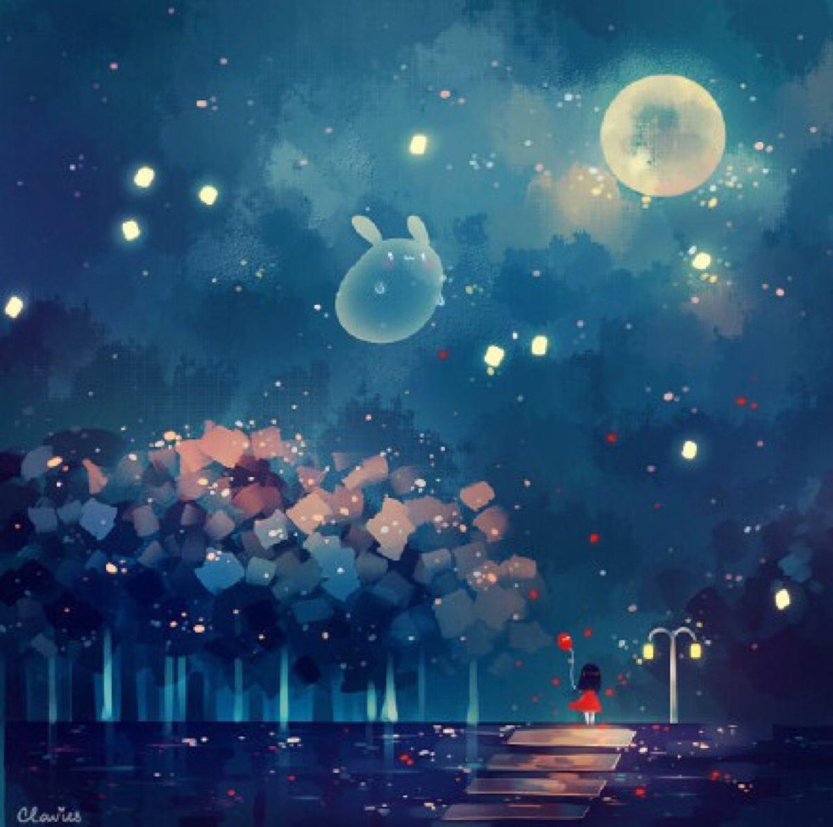 童话夜晚风景图