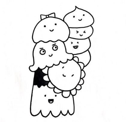 动漫 简笔画 卡通 漫画 手绘 头像 线稿 420_405
