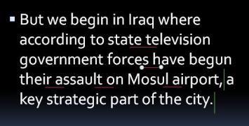 【BBC英音模仿秀】2017.2.28 标题:伊拉克特种部队猛攻摩苏尔机场