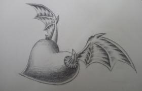 【2016年11-12月新手村】翅膀:邪恶的♥(临摹)