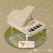 【衍纸篇】美丽的衍纸手工纸钢琴制作