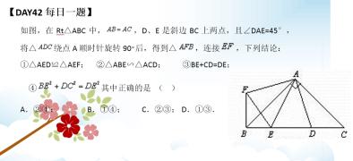 【每日一题】初二数学下学期期中复习--Day42.