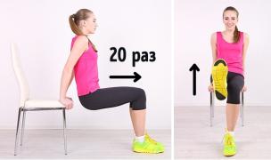 看战斗民族如何利用一把椅子练就完美腹肌!
