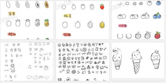 展示图: 难度:简单 工具:笔 描述:简笔画就比较简单了,属于一笔画
