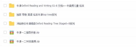 牛津阅读树oxford reading tree 90本高清Pdf+配套mp3音频分享