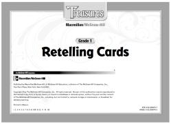 【资源❤加州语文】Treasures加州语文Retelling Cards复述卡GK-G2