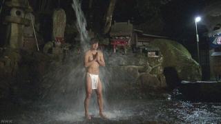 【NHK简单新闻】170124 大寒:冈山县龙泉寺瀑布修行