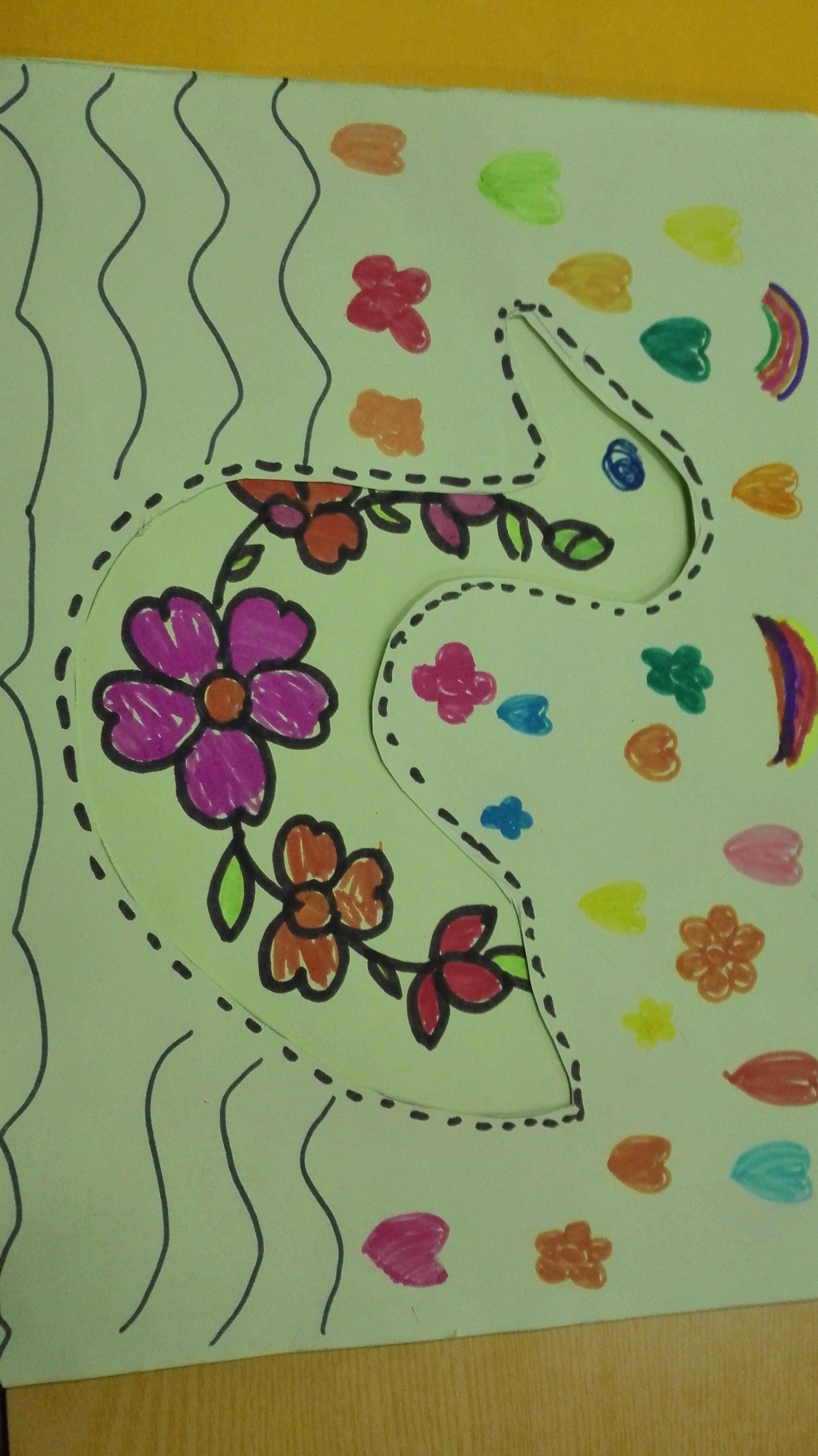 民族小学三年美术动物的花衣裳