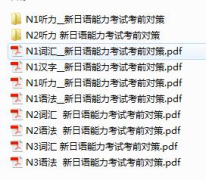 【资源】新日语能力考试考前对策(N1~N3)