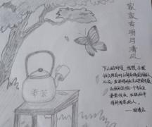 一组简单的2B铅笔画画——主题:翅膀~~