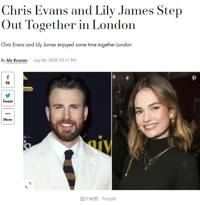 美国队长Chris Evans疑似爆出新恋情,女友是灰姑娘?