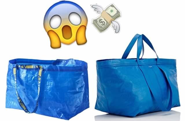 542790e1b9 La maison Balenciaga a commercialisé un sac à main qui ressemble  étrangement au célèbre cabas en plastique d'Ikea.巴黎世家推出了一款与众所周知的宜家塑料购物 ...