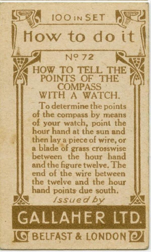 生活小百科:用手表辨认方向(双语)