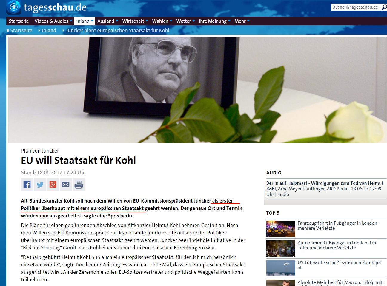 德国前总理赫尔穆特·科尔去世,是两德统一的见证... _澎湃新闻