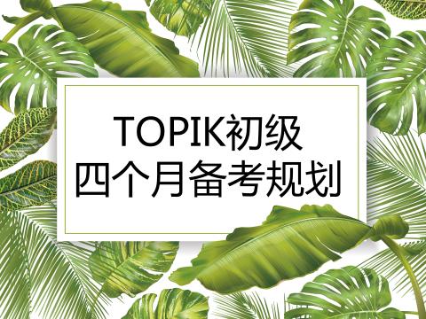 TOPIK初级四个月详细备考规划