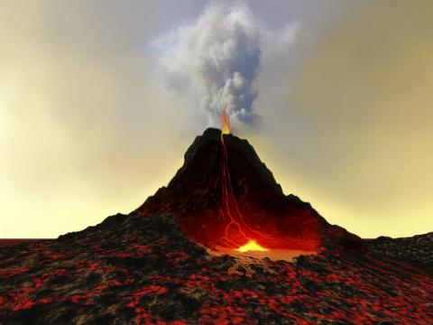 美国一退伍士兵坠入火山后生还