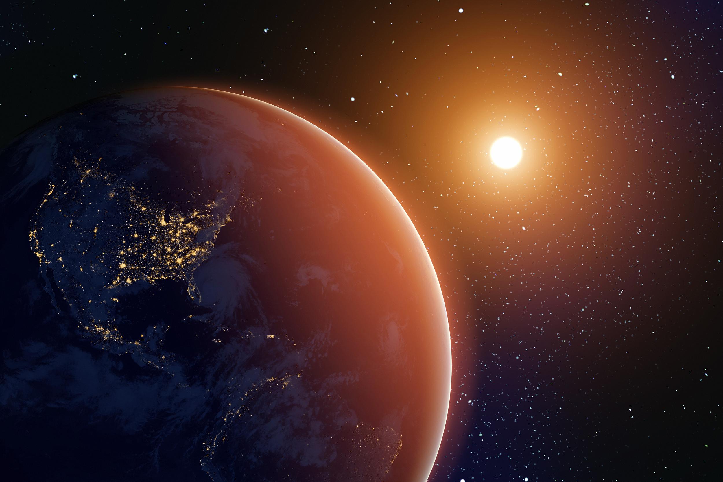 """一词:""""三体""""行星被发现,不知道上面有没有生命"""