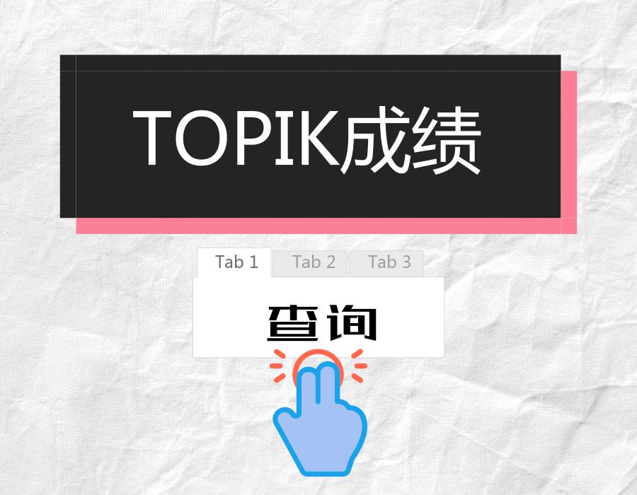 TOPIK成绩查询