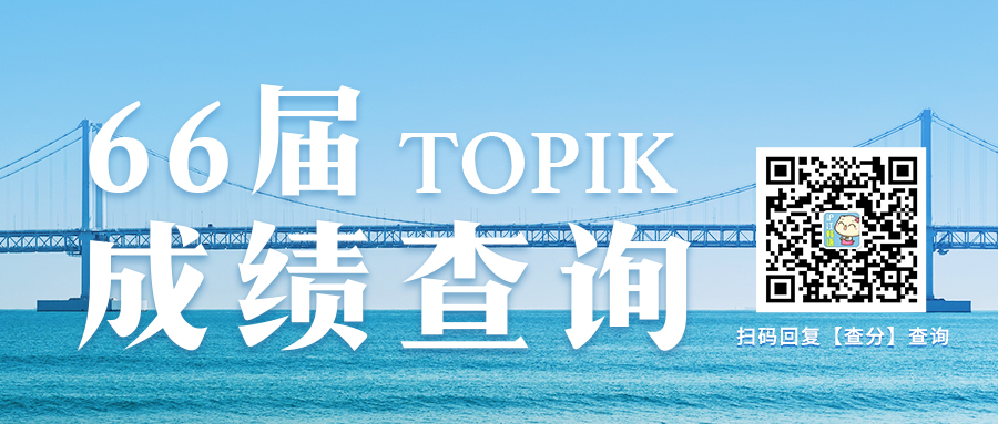 66届TOPIK成绩查询