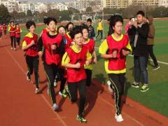 金湖县举办中小学生迎新年中长跑比赛