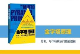 【时光不老学习不断】金字塔原理25~