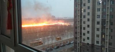 好可怕啊!我家附近着火了