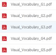【资源❤加州语文】Treasures加州语文Visual Vocabulary单词卡GK-G5