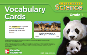 【资源❤加州科学】California Science Vocabulary Card(1-6)科学配套单词卡