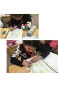 锦丰中心小学四年级学生画树叶